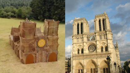 KSA bouwt Notre-Dame minitieus na