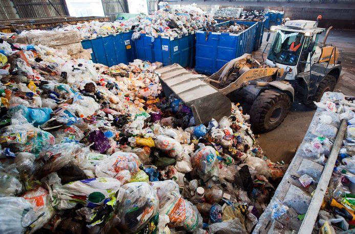 Ter illustratie: een enorme berg ingezameld plastic in Amersfoort.