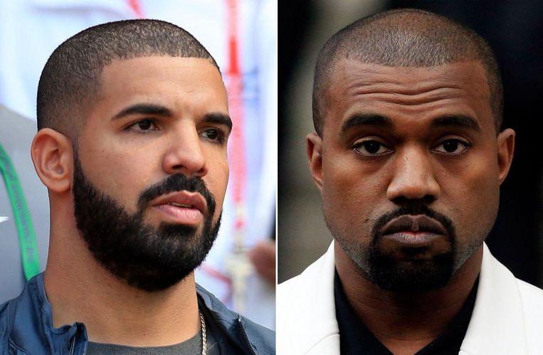 Volgens Kanye West (rechts) mag hij Drakes naam niet meer vermelden