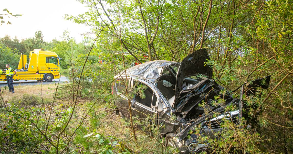Twee gewonden bij ongeval op A28 bij Wezep.