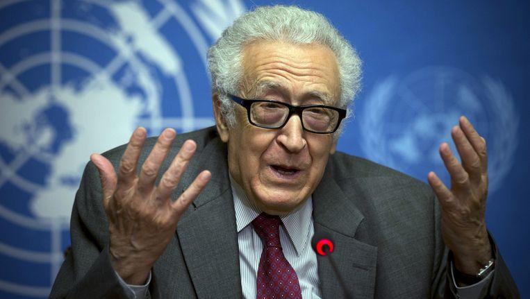 Algerijnse diplomaat Lakhdar Brahimi. Beeld ap