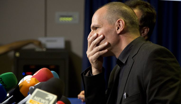 Grieks minister van Financiën Varoufakis. Beeld AP