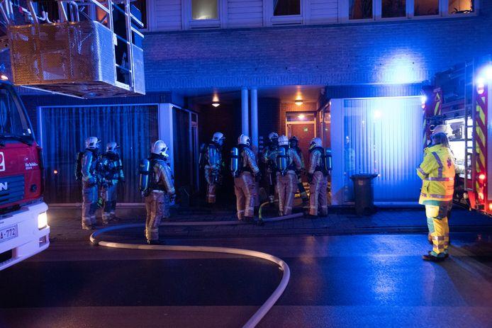 De hulpdiensten kwamen ter plaatse in de Nieuwstraat.