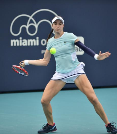 Regen houdt Rus en andere tennissters van baan in Miami