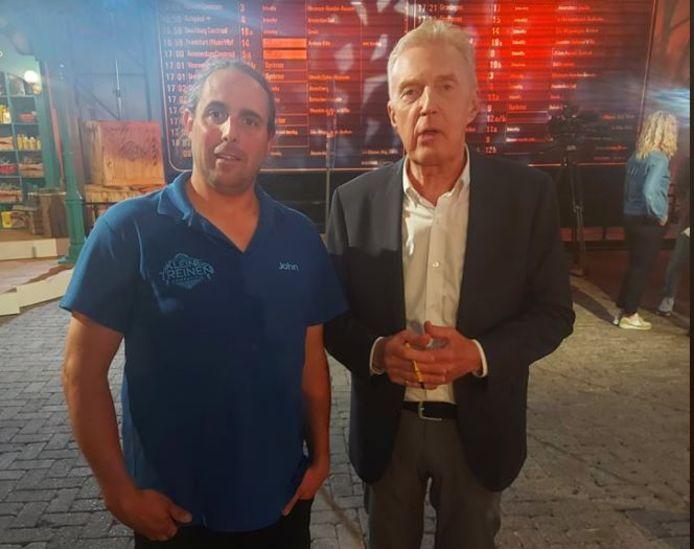 John Clayton (links) met André van Duin