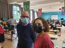 """Leïla Belkhir face à de nombreux élèves non vaccinés à Châtelet: """"Toujours les mêmes fake news"""""""