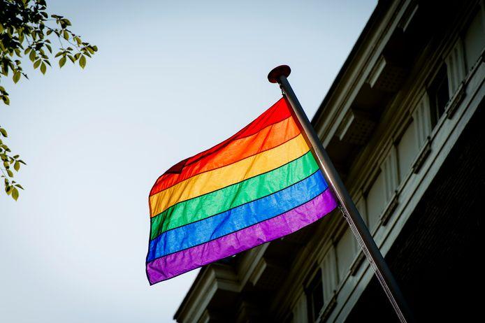Een regenboogvlag