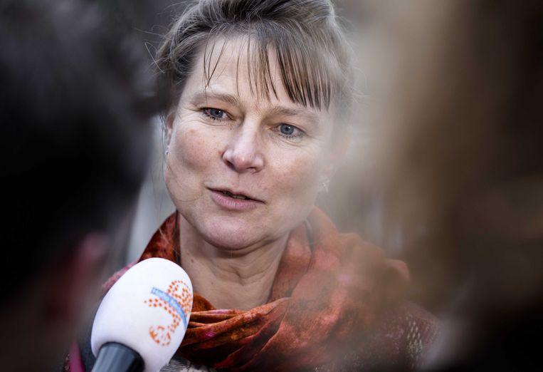 Marjan Minnesma (Urgenda): 'Als we nu vijf jaar geen watersnoodramp hebben, dan vergeten mensen de catastrofes weer'.  Beeld ANP