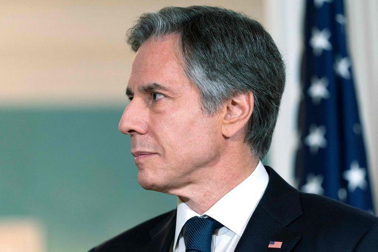 De Amerikaanse minister van Buitenlandse Zaken Antony Blinken wil de sancties voor Iran behouden