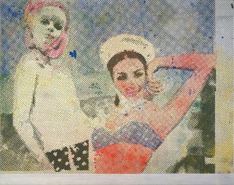 Freundinnen 3 (1965). Beeld Sigmar Polke / ARS, New York / VG Bild-Kunst, Bonn
