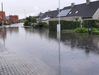 Enkele straten even onder water na hevige regenval