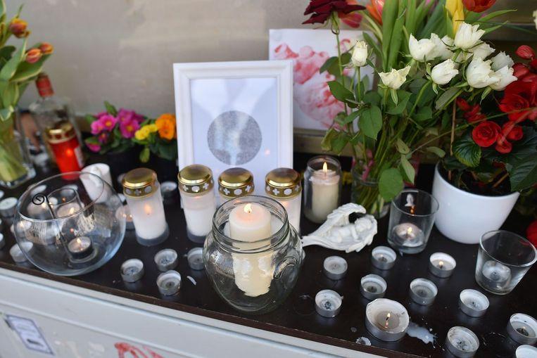 Een gedenkteken voor één van de slachtoffers van de crash. Beeld afp