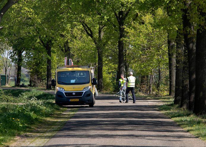 Een van de nertsenbedrijven waar het coronavirus werd geconstateerd, is gevestigd aan de Bankert in Milheeze.