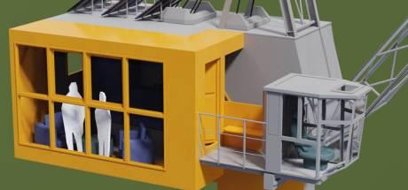 Slapen in hijskraan aan Bossche Tramkade: 'Gasten kunnen met knoppen kiezen voor uitzicht'