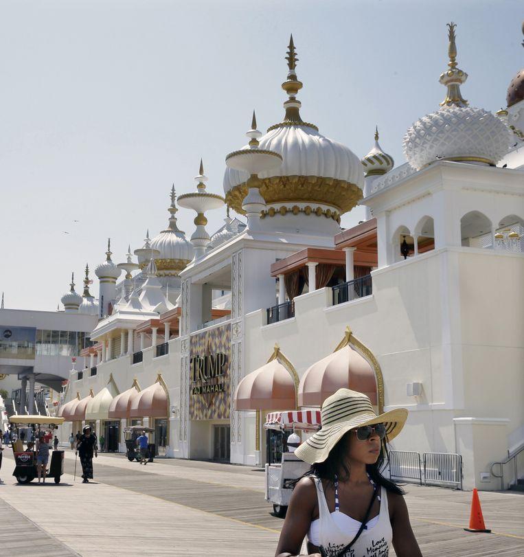 Atlantic City nu: casinohotel Trump Taj Mahal heeft aangekondigd te sluiten. Vier casino's op de Boardwalk gingen dit jaar al dicht. Beeld ap