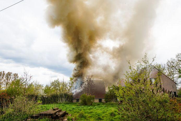 Schuurbrand in de Doolstraat in Eindhoven.