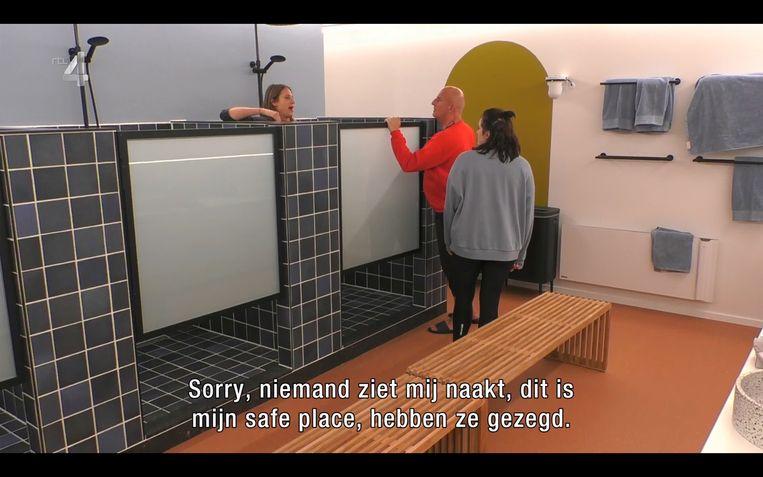 Liese vindt de privacy in de douche ondermaats. Beeld