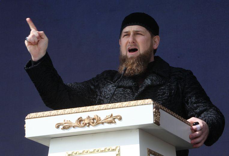 Tsjetsjeens leider Ramzan Kadyrov. Beeld AP