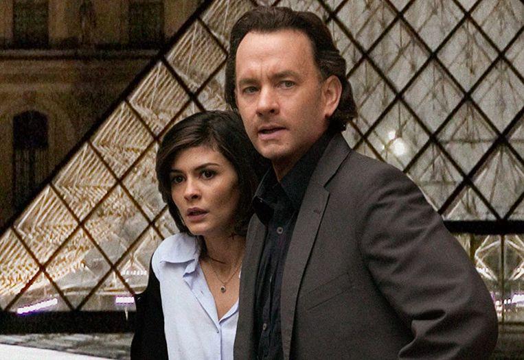 Tom Hanks  en Audrey Tautou in The Da Vinci Code  Beeld