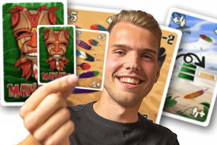 Een door de pas 21-jarige Steenwijker Lars Jansen ontwikkeld kaartspel is opgepikt door een grote spelletjesfabrikant en ligt binnenkort in tal van winkels.
