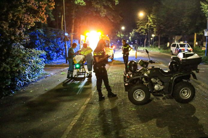Het ongeluk gebeurde rond 02.00 uur.