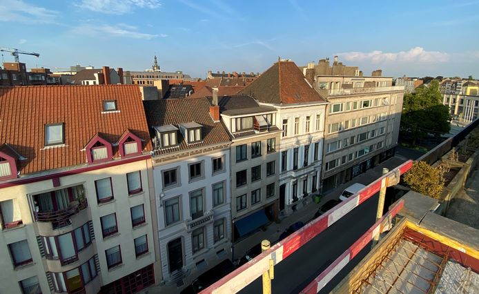 De Koning Albertstraat, vanop het dak van Park Lane