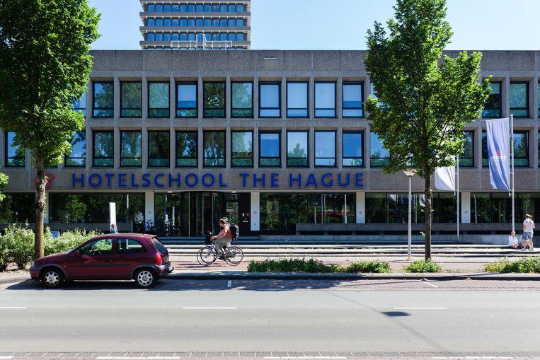 De hotelschool in de Jan Evertsenstraat. Beeld Nina Schollaardt