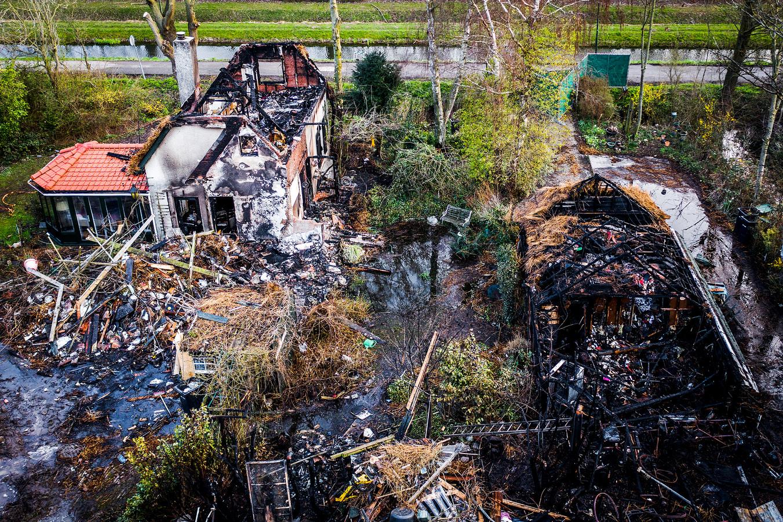 De schade is groot na de grote brand aan de Kilweg.
