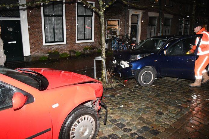In totaal raakten drie auto's zwaar beschadigd