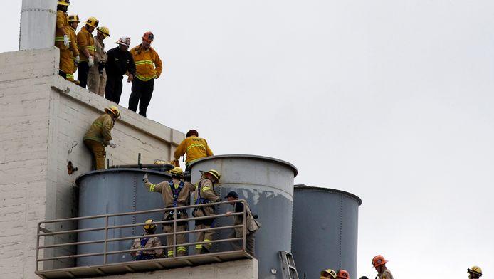 De watertank op het dak van het hotel waarin het lichaam van Elisa Lam werd gevonden.