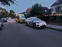 De situatie in de Bredestraat in Nijmegen na de beroving.