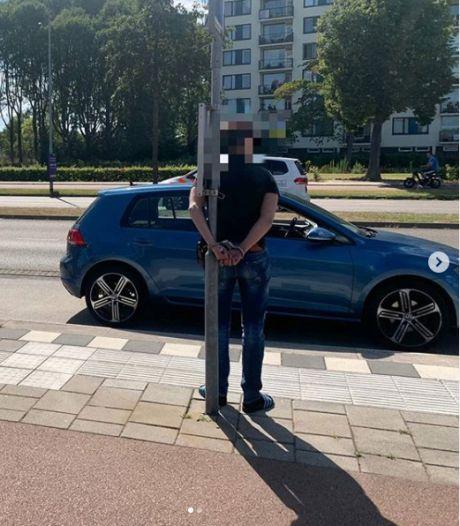 Man verzet zich bij aanhouding nadat hij door rood stoplicht rijdt in Eindhoven