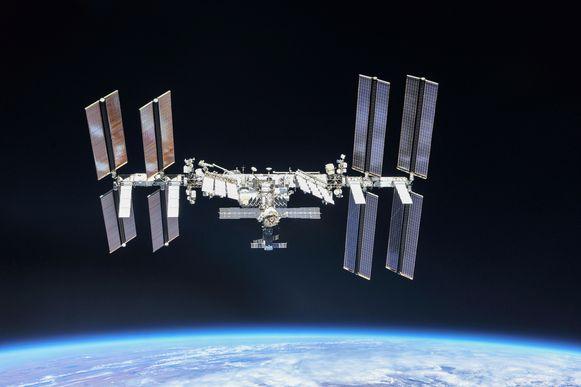 Het ISS gefotografeerd vanuit de ruimte.