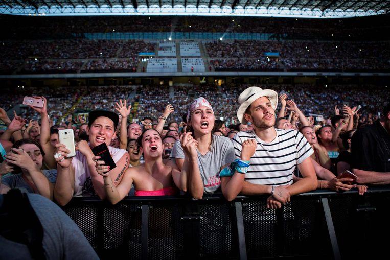 'Een voetbalstadion voor 80 duizend mensen. Daar is de E Street Band een paar keer opgestegen.' Beeld getty
