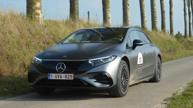 Test: Met de Mercedes-Benz EQS op de Zoute Grand Prix