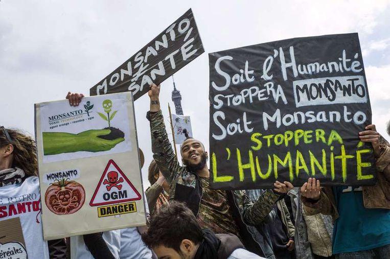 De betoging in Parijs. Beeld AFP