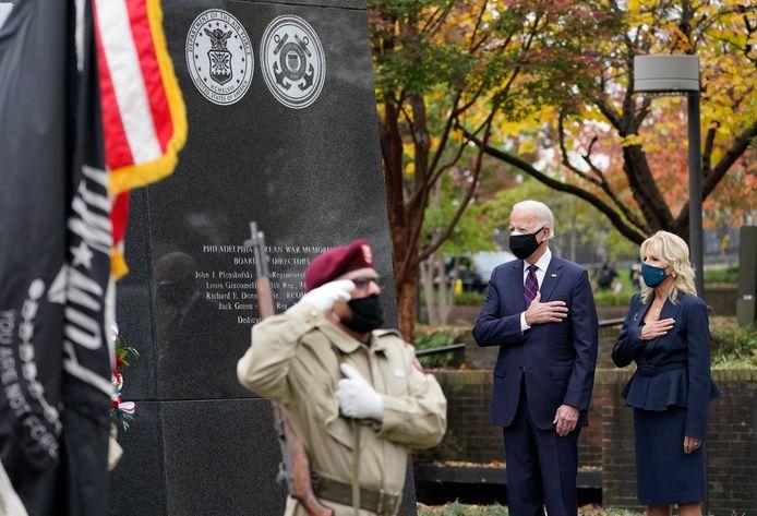 Biden bezocht een evenement in Philadelphia.