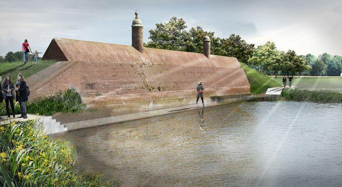 In het inrichtingsplan voor de Stenen Poppen in Klundert zit de aanleg van een loopbrug, maar die stuit op weerstand bij de Rijksdienst voor het Cultureel Erfgoed.