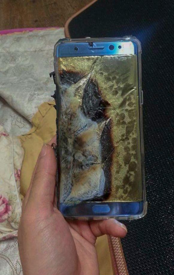 Een ontplofte Note 7