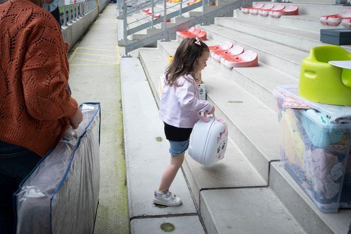 Marie schonk op de tribunes van KV Mechelen haar pispotje.