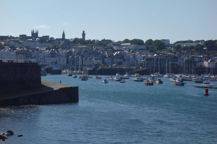 Saint Peter Port, hoofdstad van Guernsey.