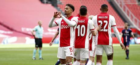 Ajax kroont zich met klinkende zege op Emmen voor 35ste keer tot landskampioen