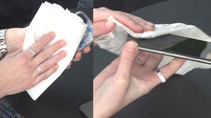 Handen wassen is belangrijk, maar vergeet ook je smartphone niet. Zo maak je hem schoon