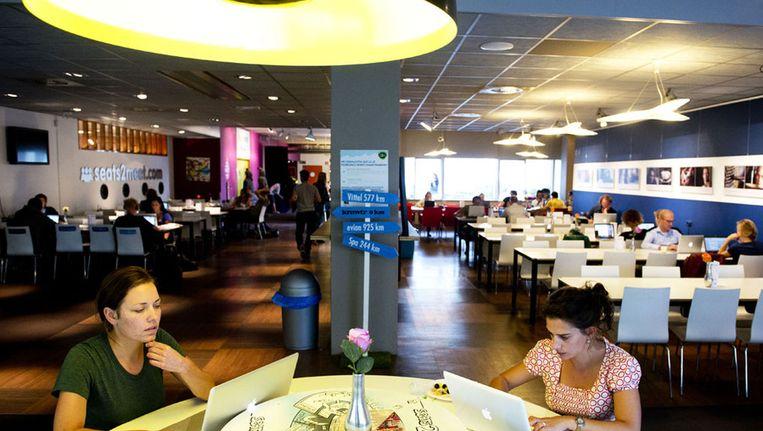 ZZP-ers aan het werk in Seats2Meet in Utrecht. Beeld anp