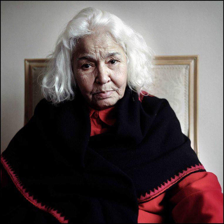 De Egyptische feminist en schrijver Nawal El Saadawi in 2005. Zij was een van de eersten die zich uitsprak tegen de onderdrukking van de Arabische vrouw.  Beeld Joost van den Broek