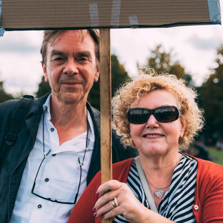 Frans Peterse (63) en Els Stapersma (61). Beeld Rebecca Fertinel