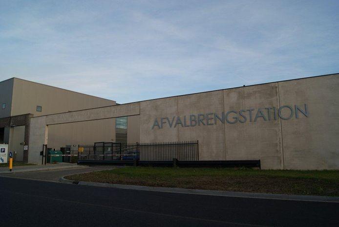 Recyclestation in IJsselstein.