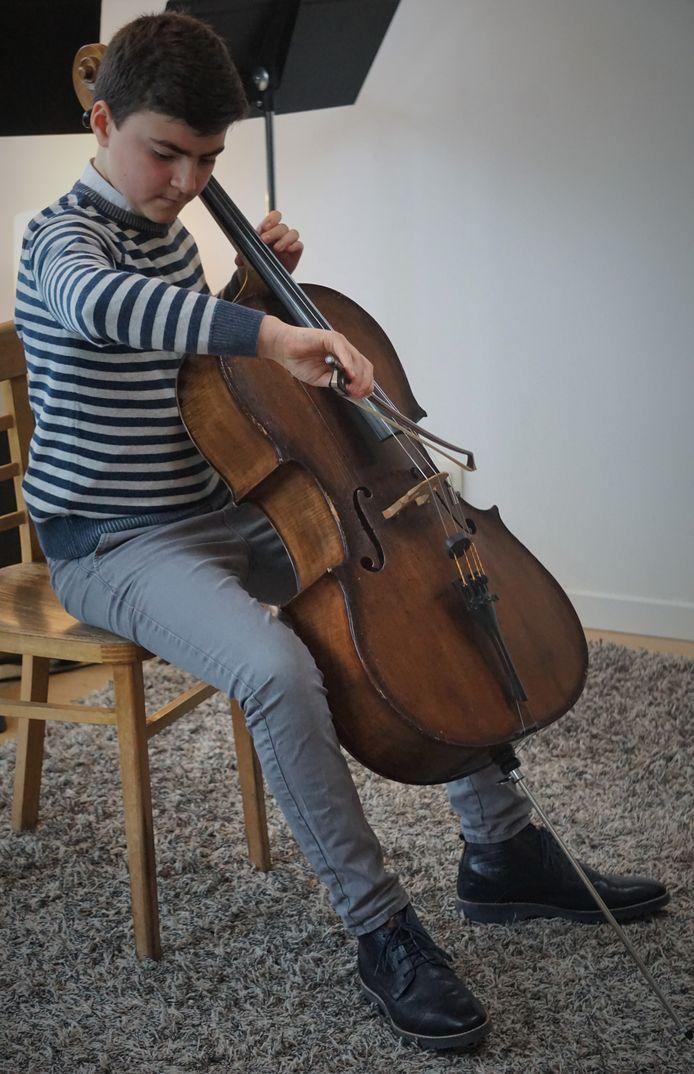 Ook broer Florian Lievens gaf het beste van zichzelf op cello.
