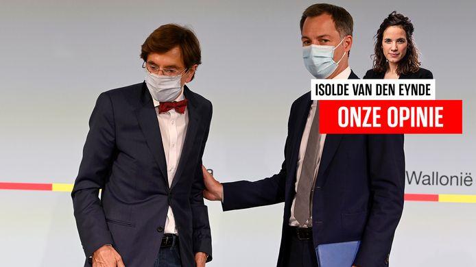 De Waalse minister-president Elio di Rupo en premier Alexander De Croo.