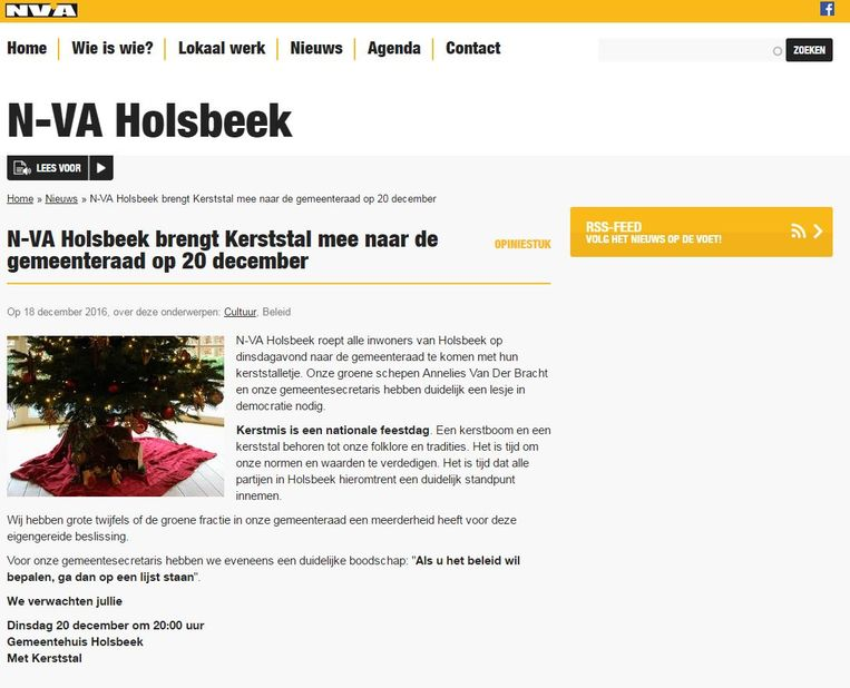 De N-VA-oproep in Holsbeek. Beeld rv